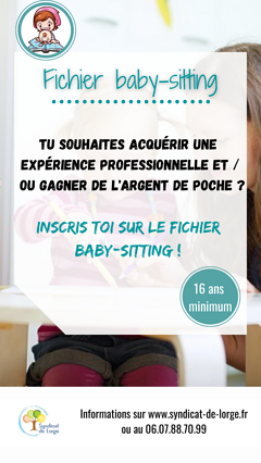 Le fichier Baby-sitting